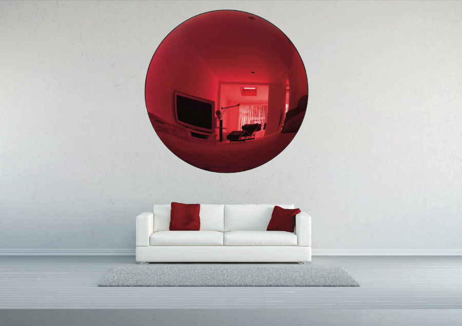 آینه کاری منزل در دکوراسیون قرمز