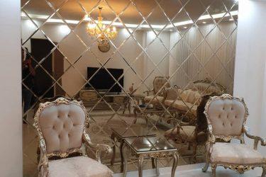 پروژه آینه دکوراتیو اتاق نشیمن