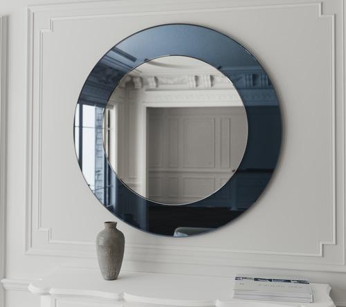 آینه آبی با نور پردازی مخفی