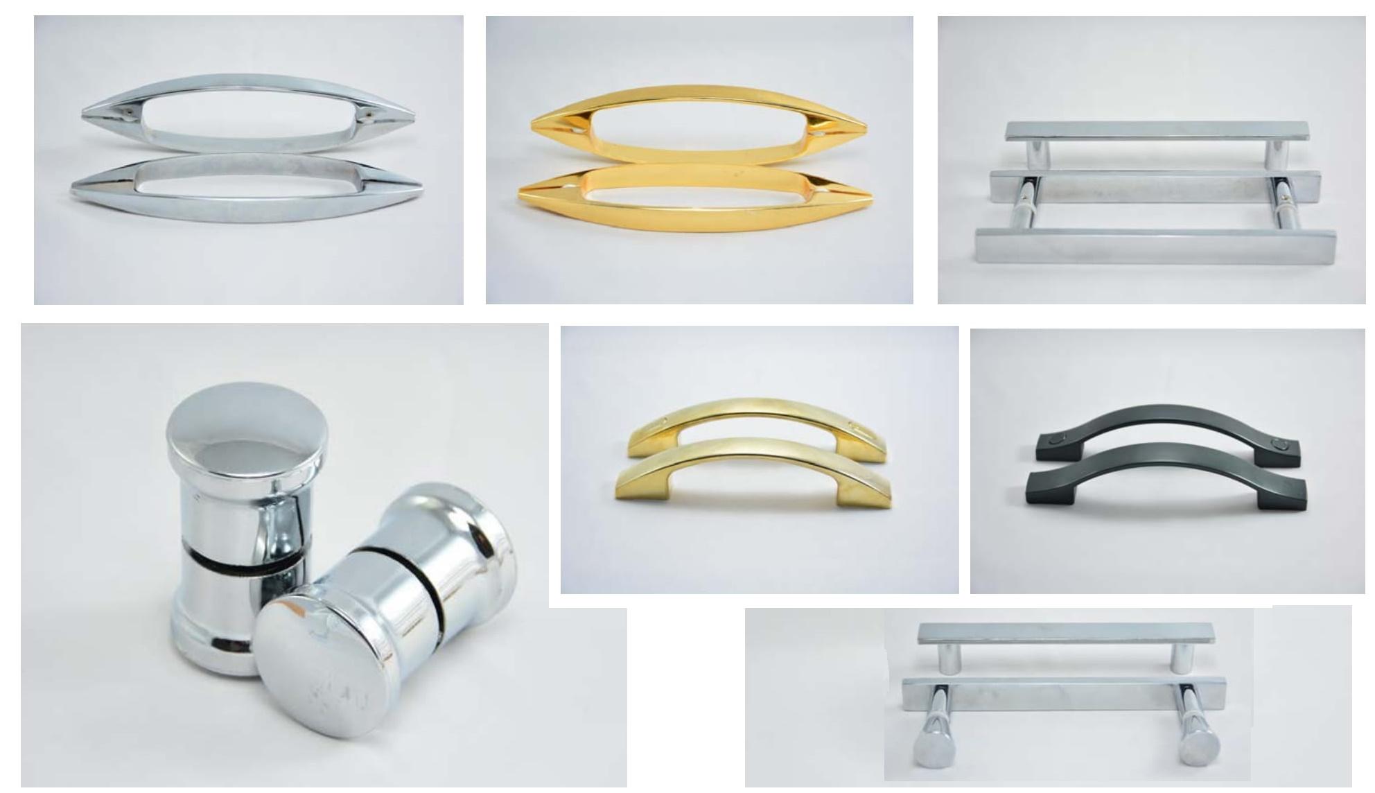 انواع دستگیره های شیشه های مختلف