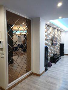 پروژه آینه کاری دکوراتیو منزل