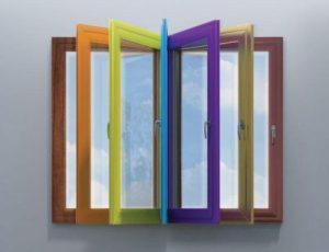 پنجره دو جداره رنگی