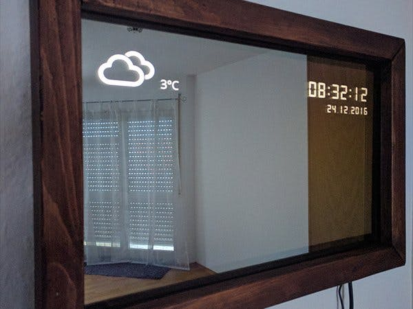 نصب آینه هوشمند
