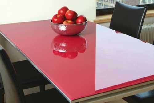شیشه های رنگی برای میز