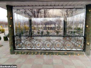 شیشه های ریلی آلاچیق های شیشه ای